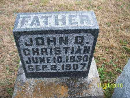 CHRISTIAN, JOHN Q. - Marion County, Missouri | JOHN Q. CHRISTIAN - Missouri Gravestone Photos