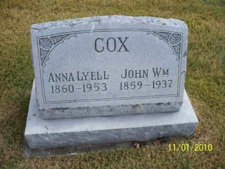 COX, JOHN WM - Marion County, Missouri | JOHN WM COX - Missouri Gravestone Photos