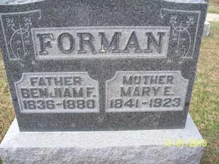 FORMAN, MARY E. - Marion County, Missouri | MARY E. FORMAN - Missouri Gravestone Photos