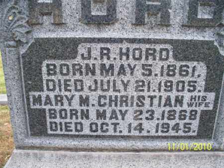 CHRISTIAN HORD, MARY M. - Marion County, Missouri | MARY M. CHRISTIAN HORD - Missouri Gravestone Photos