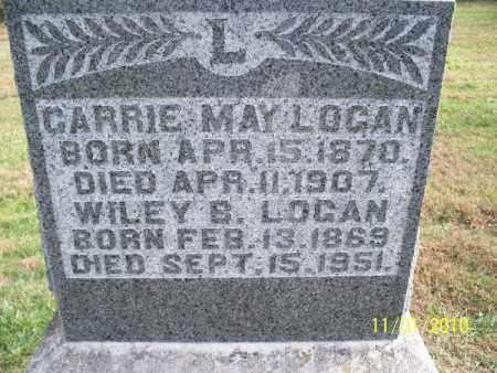 LOGAN, CARRIE MAY - Marion County, Missouri | CARRIE MAY LOGAN - Missouri Gravestone Photos