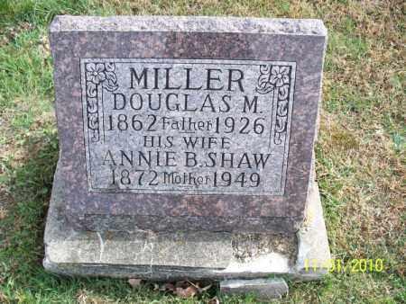 SHAW MILLER, ANNIE B. - Marion County, Missouri | ANNIE B. SHAW MILLER - Missouri Gravestone Photos