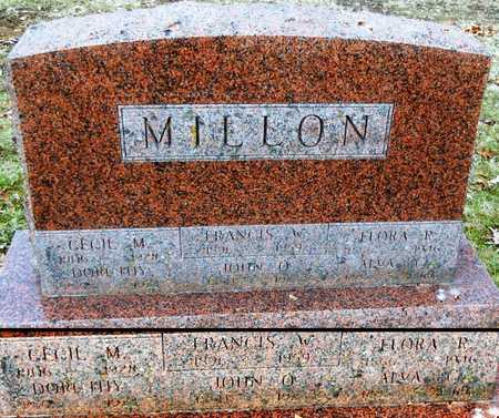 MILLON, FRANCIS WICKS - Marion County, Missouri | FRANCIS WICKS MILLON - Missouri Gravestone Photos