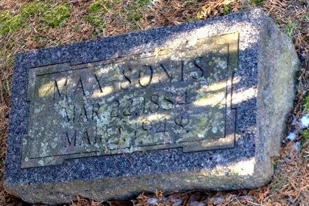 SONIS, MAX - Marion County, Missouri   MAX SONIS - Missouri Gravestone Photos
