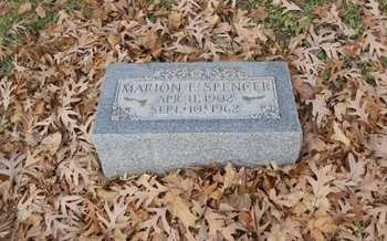 SPENCER, MARION E - Marion County, Missouri | MARION E SPENCER - Missouri Gravestone Photos