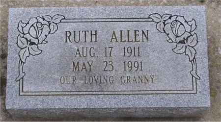 ALLEN, RUTH - McDonald County, Missouri | RUTH ALLEN - Missouri Gravestone Photos