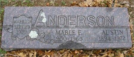 ANDERSON, MABLE E - McDonald County, Missouri   MABLE E ANDERSON - Missouri Gravestone Photos