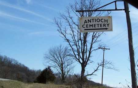 *, ANTIOCH CEMETERY SIGN - McDonald County, Missouri | ANTIOCH CEMETERY SIGN * - Missouri Gravestone Photos