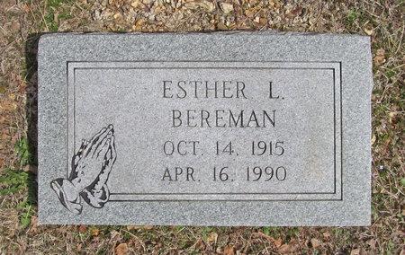 BEREMAN, ESTHER L - McDonald County, Missouri | ESTHER L BEREMAN - Missouri Gravestone Photos