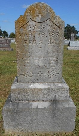 BONE, JAMES M. - McDonald County, Missouri   JAMES M. BONE - Missouri Gravestone Photos