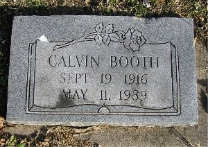 BOOTH, CALVIN A. - McDonald County, Missouri | CALVIN A. BOOTH - Missouri Gravestone Photos