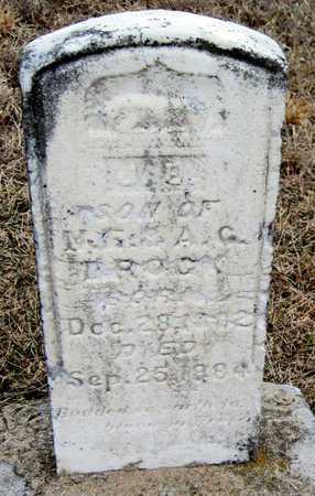 BROCK, JOSEPH E - McDonald County, Missouri   JOSEPH E BROCK - Missouri Gravestone Photos
