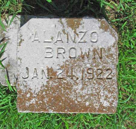 BROWN, ALANZO - McDonald County, Missouri | ALANZO BROWN - Missouri Gravestone Photos