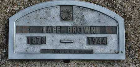 "BROWN, WILLIAM LAFAYETTE ""LAFE"" - McDonald County, Missouri   WILLIAM LAFAYETTE ""LAFE"" BROWN - Missouri Gravestone Photos"