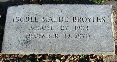 BROYLES, ISOBEL MAUDE - McDonald County, Missouri | ISOBEL MAUDE BROYLES - Missouri Gravestone Photos