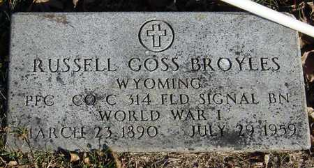 BROYLES, RUSSELL GOSS (VETERAN WWI) - McDonald County, Missouri | RUSSELL GOSS (VETERAN WWI) BROYLES - Missouri Gravestone Photos