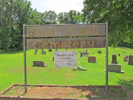*, BRUSH CREEK CEMETERY SIGN - McDonald County, Missouri | BRUSH CREEK CEMETERY SIGN * - Missouri Gravestone Photos