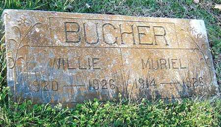 BUCHER, WILLIE - McDonald County, Missouri | WILLIE BUCHER - Missouri Gravestone Photos