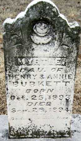 BURKETT, MYRTLE - McDonald County, Missouri   MYRTLE BURKETT - Missouri Gravestone Photos