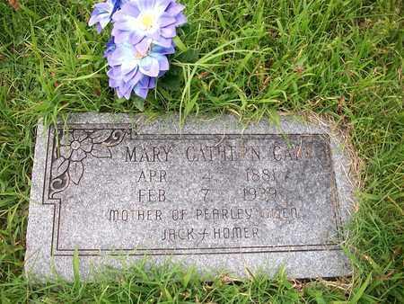 HENSON CARR, MARY CATHERN - McDonald County, Missouri   MARY CATHERN HENSON CARR - Missouri Gravestone Photos