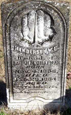 CHAPMAN, HENDERSON WILLIPHARD CEPHUS - McDonald County, Missouri | HENDERSON WILLIPHARD CEPHUS CHAPMAN - Missouri Gravestone Photos