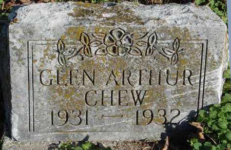 CHEW, GLEN ARTHUR - McDonald County, Missouri   GLEN ARTHUR CHEW - Missouri Gravestone Photos