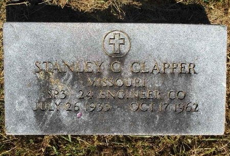CLAPPER, STANLEY C (VETERAN) - McDonald County, Missouri | STANLEY C (VETERAN) CLAPPER - Missouri Gravestone Photos
