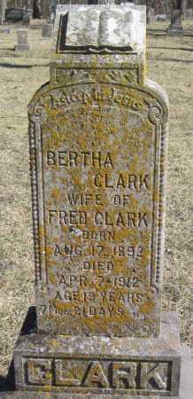 CLARK, BERTHA - McDonald County, Missouri | BERTHA CLARK - Missouri Gravestone Photos