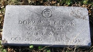 CLARK, DORWIN ROBERT (VETERAN WWII) - McDonald County, Missouri | DORWIN ROBERT (VETERAN WWII) CLARK - Missouri Gravestone Photos