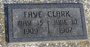 BARTLETT CLARK, FAYE MAY - McDonald County, Missouri   FAYE MAY BARTLETT CLARK - Missouri Gravestone Photos