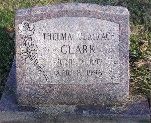 CLARK, THELMA CLAIRACE - McDonald County, Missouri | THELMA CLAIRACE CLARK - Missouri Gravestone Photos