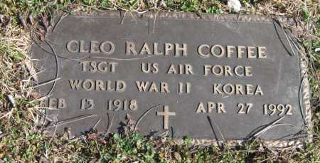 COFFEE, CLEO RALPH (VETERAN WWII KOR) - McDonald County, Missouri   CLEO RALPH (VETERAN WWII KOR) COFFEE - Missouri Gravestone Photos