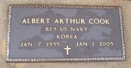COOK, ALBERT A (VETERAN KOR) - McDonald County, Missouri | ALBERT A (VETERAN KOR) COOK - Missouri Gravestone Photos