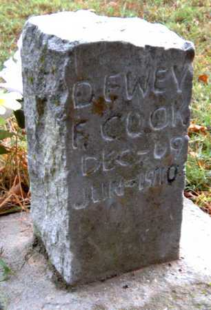 COOK, DEWEY F - McDonald County, Missouri | DEWEY F COOK - Missouri Gravestone Photos