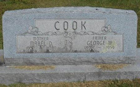 COOK, GEORGE W. - McDonald County, Missouri   GEORGE W. COOK - Missouri Gravestone Photos
