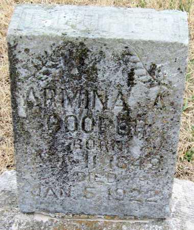 MOORE COOPER, ARMINA A - McDonald County, Missouri   ARMINA A MOORE COOPER - Missouri Gravestone Photos
