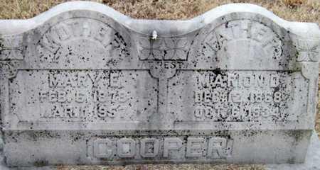 COOPER, MARY ELLEN - McDonald County, Missouri | MARY ELLEN COOPER - Missouri Gravestone Photos