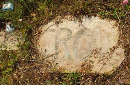 CROW, UNKNOWN - McDonald County, Missouri   UNKNOWN CROW - Missouri Gravestone Photos