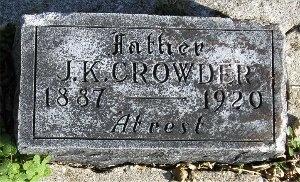 CROWDER, JOHN KELLY - McDonald County, Missouri | JOHN KELLY CROWDER - Missouri Gravestone Photos