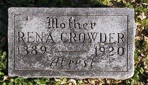 EPPARD CROWDER, RENA - McDonald County, Missouri   RENA EPPARD CROWDER - Missouri Gravestone Photos