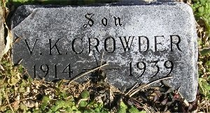 CROWDER, VAUGHN KELLY - McDonald County, Missouri   VAUGHN KELLY CROWDER - Missouri Gravestone Photos