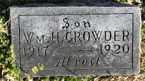 "CROWDER, WILLIAM HENRY ""BILLY"" - McDonald County, Missouri 