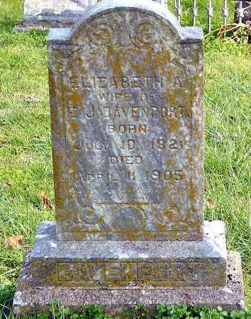 DAVENPORT DAVENPORT, ELIZABETH A - McDonald County, Missouri | ELIZABETH A DAVENPORT DAVENPORT - Missouri Gravestone Photos