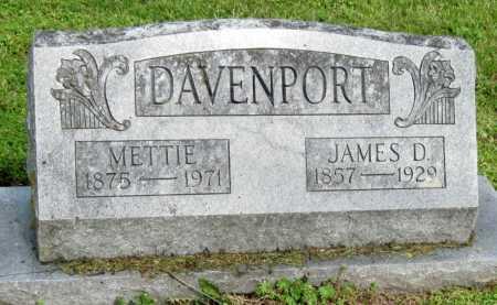 "DAVENPORT, MARTHA C ""METTIE"" - McDonald County, Missouri | MARTHA C ""METTIE"" DAVENPORT - Missouri Gravestone Photos"