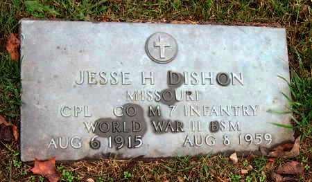 DISHON, JESSE HUNLEY VETERAN WWII MEDAL - McDonald County, Missouri | JESSE HUNLEY VETERAN WWII MEDAL DISHON - Missouri Gravestone Photos