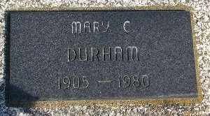DURHAM, MARY C. - McDonald County, Missouri   MARY C. DURHAM - Missouri Gravestone Photos