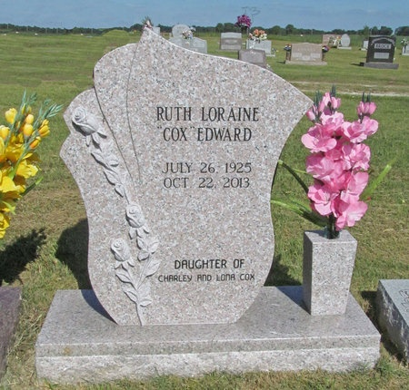 COX EDWARD, RUTH LORAINE - McDonald County, Missouri | RUTH LORAINE COX EDWARD - Missouri Gravestone Photos