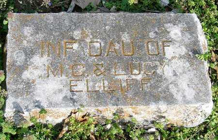 ELLIFF, INFANT DAUGHTER - McDonald County, Missouri | INFANT DAUGHTER ELLIFF - Missouri Gravestone Photos