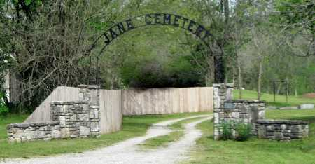 *, JANE CEMETERY ENTRANCE - McDonald County, Missouri | JANE CEMETERY ENTRANCE * - Missouri Gravestone Photos