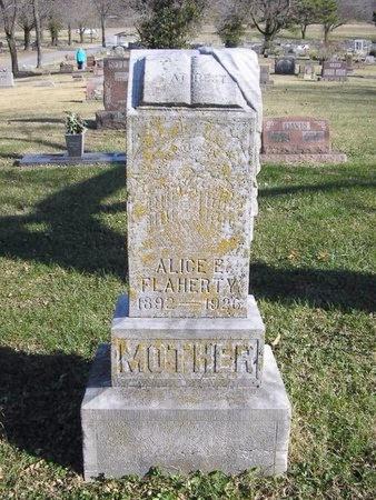STEPHENSON FLAHERTY, ALICE E. - McDonald County, Missouri | ALICE E. STEPHENSON FLAHERTY - Missouri Gravestone Photos